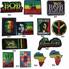 BOB MARLEY PATCH RASTA PUNK ROCK BAND MUSIC EMBROIDERED Iron on / Sew on PATCH