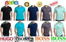 New HUGO BOSS Men's T-Shirt Polo collar Short Sleeve 100% Cotton Tee green label