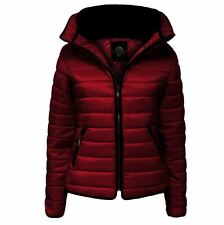 Girls Kids Quilted Padded Puffer Warm Bubble Faux Fur Collar Jacket 1-14 Years