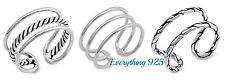 Sterling Silver 925 PRETTY MULTI BAND DESIGN RINGS SIZES 5-10