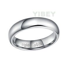 Tungsten Carbide Silver Polished Wedding Band MENS WOMENS Engagement Bridal Ring