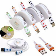 Phone 3/6/9FT Retractable Charger Cable Micro USB Data Sync for Samsung LG
