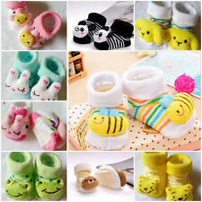 Good Newborn Baby Unisex Indoor Anti-slip Warm Socks Animal Cartoon Shoes Boots