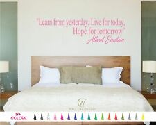 Learn Live Hope Albert Einstein Removable Wall Quote Decal Sticker Vinyl Art