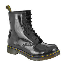 Dr Martens Black 1460 Patent Leather Boots Footwear Shin Length Leather Shoes