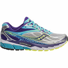 Saucony Ride 8 Women's Running Shoes. Sizes 6.0. Color- Silver/Purple/Blue