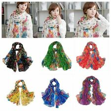 Large Women Floral Flowers Shawl Wrap Scarf
