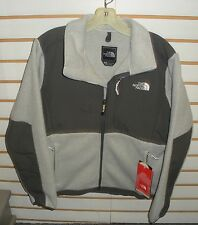 THE NORTH FACE WOMENS DENALI FLEECE JACKET- ANLP- LARGE -WHITE HEATHER/G GREY- L