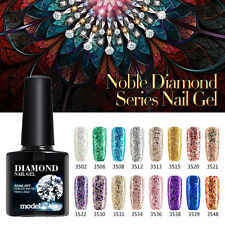Modelones 10ML New Diamond Series Glitter Gel Soak Off UV Led Gel Nail Polish