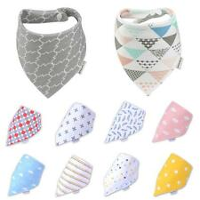 Animal Print Saliva Triangle Waterproof Towel Baby Bibs Feeding Kids Bandana