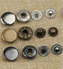 lots Copper/Silver/Gun Color Snap Button Metal Fastener Diameter 12.4mm Sewing