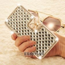 Luxury Bling Diamond butterfly Crystal Wallet Flip Case Cover For iPhone 6s 7 5