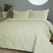 NEW Twin Full Queen Cal King Bed Light Green 3 pc Coverlet Quilt Bedspread Set