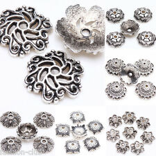Hot Selling Tibet Silver Metal Loose Spacer Bead Flower Bead Caps Jewelry Making