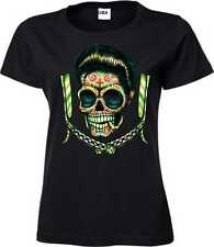 Women T-Shirt black US Car Rockabilly Greaser &`50 Style motif greaser Blades