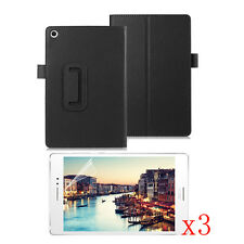 Leather Stand Case Cover+3x LCD Film F ASUS ZenPad S 8.0 Z580C/Z580CA Tablet PC