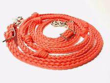 western roping barrel reins braided paracord horse tack grip knots