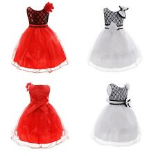 Kids Baby Girls Dress Toddler Bow Princess Pageant Party dresses Clothes 2-10Y