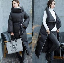 Womens Winter Thick Warm Duck Down Long Jacket Loose Coat Trench Parka Outwear #