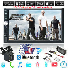 """7"""" Double 2DIN HD Car MP5 MP3 Player Bluetooth Touch Screen Stereo Radio+ Camera"""
