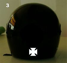 IRON CROSS REFLECTIVE MOTORCYCLE HELMET DECAL....2 FOR 1 PRICE