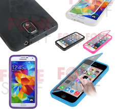 Full Body Gel Cover Case See Through Touch Flip Screen Protector for all Mobiles