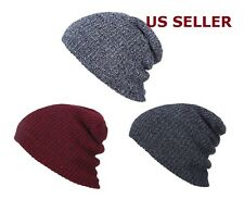 Men Women Knit Baggy Beanie Oversize Winter Hat Unisex Ski Slouchy Skull Cap