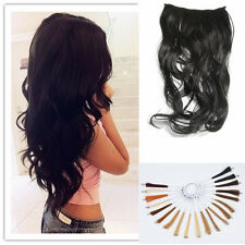 One piece 5 clips 100% Human Hair clip in Handmade long wavy Hair Extension