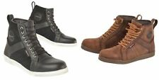 Akito Citizen Leather Motorcycle Waterproof Boots Black Biker Casual Shoes New