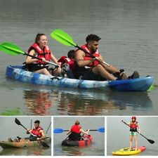 3.7M Family 2.5 Persons Double Kayak Canoe Boat 6 Rod Holders Padded Seat Paddle