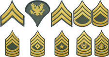 US Army Class A Military Dress Uniform Green Shoulder Chevron Rank Insignia