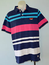 Superdry Mens Polo T - Shirt - MIXED STRIPE - SIZE - XXL - NEW