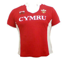 Wales Welsh 'PANEL' Short Sleeve Ladies Rugby Shirt