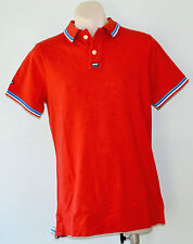 Superdry Mens Polo T - Shirt - RED - SIZES -  M, L & XXL - NEW