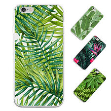 GREEN LEAF PRINT CASE COVER FOR IPHONE5C 6S 7 PLUS SAMSUNG GALAXY S6 S7 GORGROUS