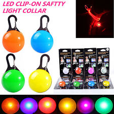 LED Pet Flashing Safety Night Light Buckle Collar Dog Cat Luminous Bright Color