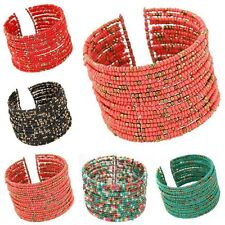 Chain Acrylic Beads Multilayer Bangle Bohemian Beaded Bracelet Women Jewelry