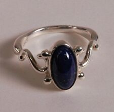 Vampire Diaries Elena's Daylight ring Unique Real lapis Stone 100% 925 Silver