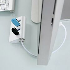 New Portable Aluminum 4 Ports High-Speed USB3.0 Hub Adapter for PC Laptop lot AA