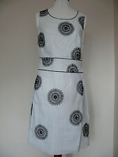 Boden Pretty Embroidered Dress Yellow or Black Print 12R or 14R BNWT RRP £99.00!