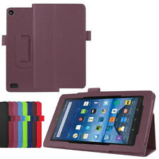 US STOCK Leather Case Stand Smart Cover For Amazon Kindle Fire HD 7 2015 Tablet