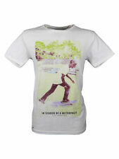 SALE / Selected Homme Mens Metropolis 2 Branded T-Shirt in Fade White Size XL