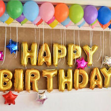 """Hot 13X """"HAPPY BIRTHDAY"""" Letters Foil Balloons For Birthday Party Decoration LE"""