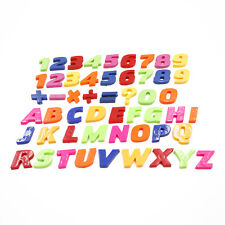 Set Of Colorful Teaching Magnetic  Letters & Numbers Fridge Magnets Alphabet MJ