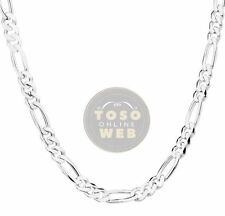 "925 Sterling Silver Figaro Chain 4mm w/ Lobster Lock Type Necklace 18"" to 26"""