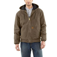 Carhartt Sandstone Duck Active Jacket - Quilted Flannel Lined - LIGHT BROWN
