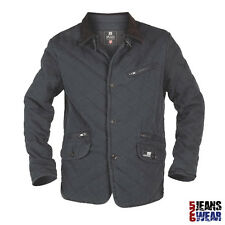 D555 Mens Branded Cotton Quilted Jacket With Cord Collar Big Size S M L XL. BNWT