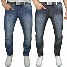 Series Seven Mens Designer Regular Fit Straight Leg Washed Denim Jeans, BNWT