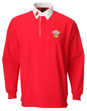 Wales Welsh Traditional Long Sleeve Rugby Shirt