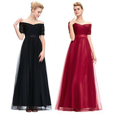 Sexy Long Bridesmaid Wedding Evening Prom Gown Party Gown Dress Sz 8 10 12 14 16